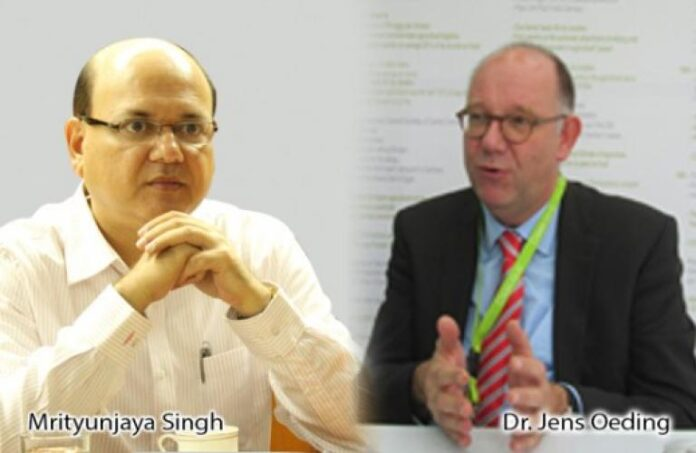 Dr Jens Oeding and Mrityunjaya Singh of CLAAS discuss the role of farm Mechanisation in India