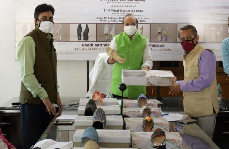 KVIC launches Khadi footwear; targets Rs 5,000 crore business