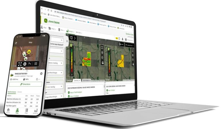 What does John Deere's advancing its Operations Center mean to farm data management?